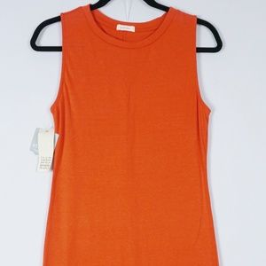 Athleta Pink Lotus Orange Maxi Knit Dress Small